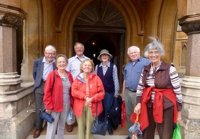 7 people outside front of Tyntesfield