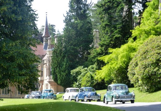 row of old cars at Tyntesfield